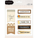 Pebbles - Simple Life Collection - Cardstock Stickers - Sentiments