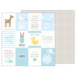 Pebbles - Lullaby Collection - 12 x 12 Double Sided Paper - Baby Boy Quotes