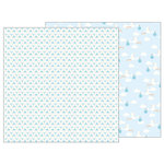 Pebbles - Lullaby Collection - 12 x 12 Double Sided Paper - Delivering Baby Boy