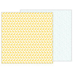 Pebbles - Lullaby Collection - 12 x 12 Double Sided Paper - Just Duckie
