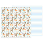 Pebbles - Lullaby Collection - 12 x 12 Double Sided Paper - Woodland Baby Boy