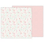 Pebbles - Lullaby Collection - 12 x 12 Double Sided Paper - Baby Girl Blossoms