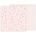 Pebbles - Lullaby Collection - 12 x 12 Double Sided Paper - Delivering Baby Girl
