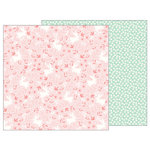 Pebbles - Lullaby Collection - 12 x 12 Double Sided Paper - Baby Girl Posies