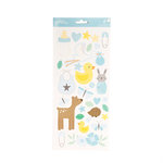 Pebbles - Lullaby Collection - Cardstock Stickers - Boy