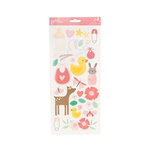 Pebbles - Lullaby Collection - Cardstock Stickers - Girl