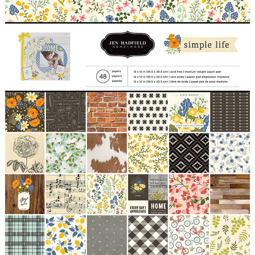 Pebbles - Simple Life Collection - 12 x 12 Paper Pad