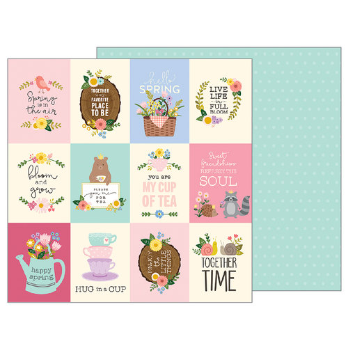 Pebbles - TeaLightful Collection - 12 x 12 Double Sided Paper - Tea Party
