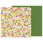 Pebbles - TeaLightful Collection - 12 x 12 Double Sided Paper - Bouquet