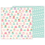Pebbles - TeaLightful Collection - 12 x 12 Double Sided Paper - Teacups