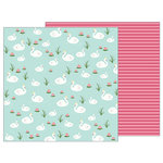 Pebbles - TeaLightful Collection - 12 x 12 Double Sided Paper - Graceful Swans