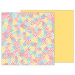 Pebbles - TeaLightful Collection - 12 x 12 Double Sided Paper - Floral Patchwork