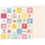 Pebbles - TeaLightful Collection - 12 x 12 Double Sided Paper - Tea Party Sentiments