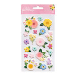 Pebbles - TeaLightful Collection - Puffy Stickers