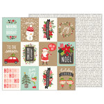 Pebbles - Merry Merry Collection - Christmas - 12 x 12 Double Sided Paper - Ho Ho Ho