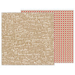 Pebbles - Merry Merry Collection - Christmas - 12 x 12 Double Sided Paper - Candy Stripes