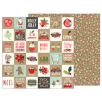Pebbles - Merry Merry Collection - Christmas - 12 x 12 Double Sided Paper - Merry Merry