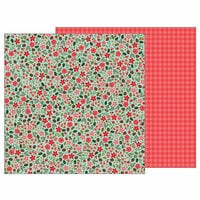 Pebbles - Merry Merry Collection - Christmas - 12 x 12 Double Sided Paper - Christmas Floral