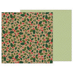 Pebbles - Merry Merry Collection - Christmas - 12 x 12 Double Sided Paper - Holly Berries