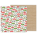 Pebbles - Merry Merry Collection - Christmas - 12 x 12 Double Sided Paper - Over the River