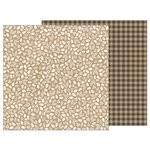 Pebbles - Merry Merry Collection - Christmas - 12 x 12 Double Sided Paper - Kraft Sprigs