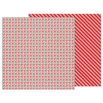 Pebbles - Merry Merry Collection - Christmas - 12 x 12 Double Sided Paper - Peppermints