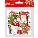 Pebbles - Merry Merry Collection - Christmas - Ephemera with Glitter Accents