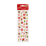 Pebbles - Merry Merry Collection - Christmas - Puffy Stickers - Mini