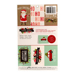 Pebbles - Merry Merry Collection - Christmas - Cardmaking Pad with Glitter Accents