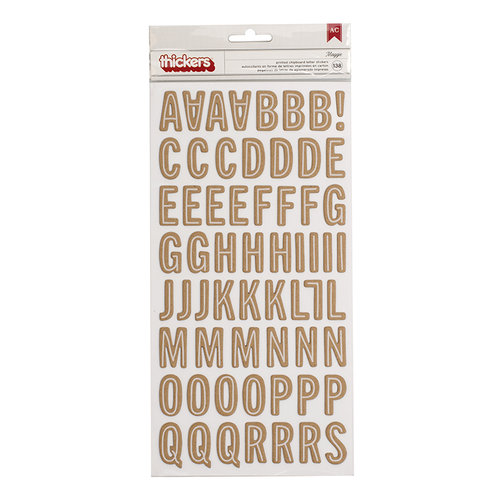 Pebbles - Merry Merry Collection - Christmas - Thickers - Printed Chipboard - Alpha