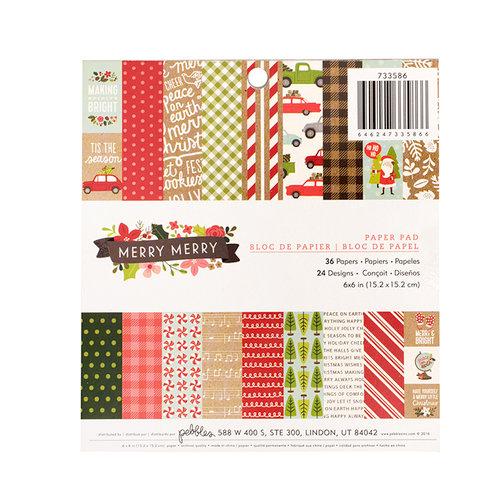 Guijarros - Merry Merry Collection - Navidad - 6 x 6 bloc de papel