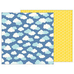 Pebbles - Sunshiny Days Collection - 12 x 12 Double Sided Paper - Daydream