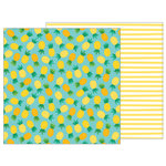 Pebbles - Sunshiny Days Collection - 12 x 12 Double Sided Paper - Pineapple Float