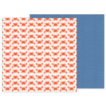 Pebbles - Sunshiny Days Collection - 12 x 12 Double Sided Paper - Beach Day