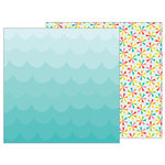 Pebbles - Sunshiny Days Collection - 12 x 12 Double Sided Paper - Let's Float