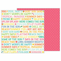 Pebbles - Sunshiny Days Collection - 12 x 12 Double Sided Paper - Summer Day