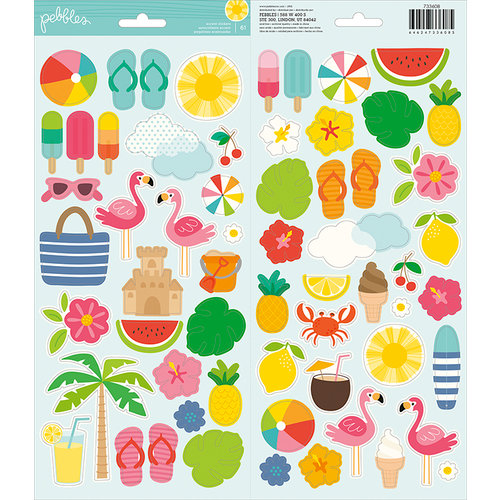 Pebbles - Sunshiny Days Collection - Cardstock Stickers