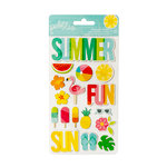 Pebbles - Sunshiny Days Collection - Chipboard Stickers - Icons