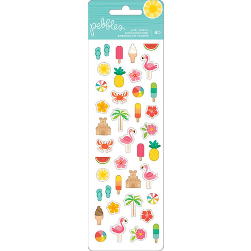 Pebbles - Sunshiny Days Collection - Puffy Stickers - Mini
