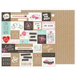 Pebbles - Forever My Always Collection - 12 x 12 Double Sided Paper - Love Notes