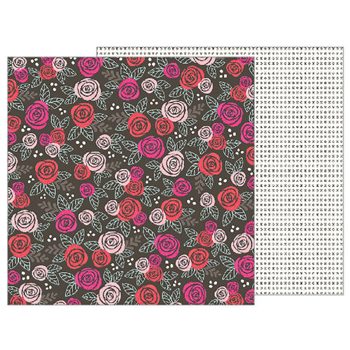 Pebbles - Forever My Always Collection - 12 x 12 Double Sided Paper - Date Night