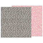 Pebbles - Forever My Always Collection - 12 x 12 Double Sided Paper - Love Labels