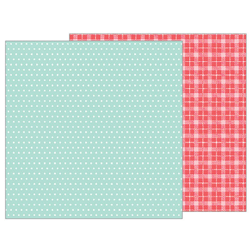 Pebbles - Forever My Always Collection - 12 x 12 Double Sided Paper - Mint Dots