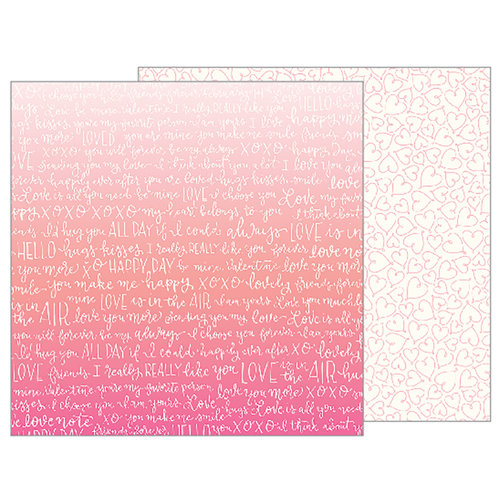 Pebbles - Forever My Always Collection - 12 x 12 Double Sided Paper - From My Heart