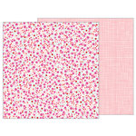 Pebbles - Forever My Always Collection - 12 x 12 Double Sided Paper - Sprinkled Blossoms