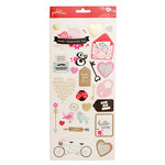 Pebbles - Forever My Always Collection - Cardstock Stickers with Foil Accents