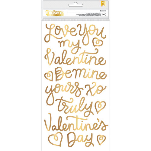 Pebbles - Forever My Always Collection - Thickers - Foam - Phrase - Gold Foil