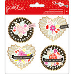 Pebbles - Forever My Always Collection - Rosettes with Foil Accents