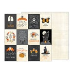 Pebbles - Midnight Haunting Collection - Halloween - 12 x 12 Double Sided Paper - Midnight Sentiments
