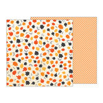 Pebbles - Midnight Haunting Collection - Halloween - 12 x 12 Double Sided Paper - Whirling Leaves